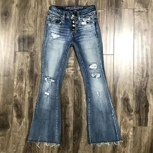 American Eagle flare jeans size 00